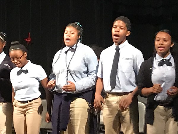 Glee Club performs at the day assembly concert.